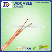 China produce10awg 4 core round black and red speaker cable
