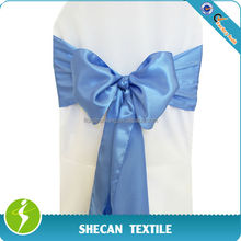 Wedding Party decorations blue Satin chair sash