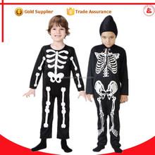 De china venta al por mayor de halloween xxxxl trajes de miedo esqueleto traje de cosplay sexy para los niños