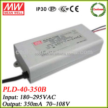 Meanwell PLD-40-350B 40w led driver 350ma