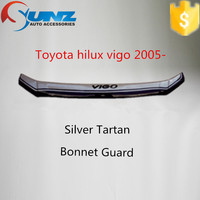 for Pick up TOYOTA HILUX VIGO 2007 silver tartan color bonnet guard car door visor mug guard in exterior accessories