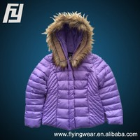 Customized Winter Windproof Medium Lady Padded Jacket Outwear