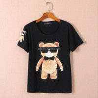 Very hot drill collar T-shirt of slim fit