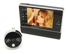 3.5 inch display High Definition Night Vision LED TF card Digital door viewer with doorbell