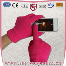 SEEWAY Winter Knitted Touch Screen Gloves Soft Acrylic Magic Gloves