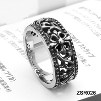 Lace Setting Punk Bulk Sale Stainless Steel Rings Wholesale Jewelry for Men