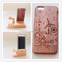 2015 newest product wood case for iphone 6 Carved Wood Phone Case for iphone 6