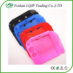 color soft silicone protective cover rubber bumper case for Nintendo 2DS console silicone case