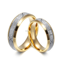 Fashion Couples Finger Ring Jewelry Wedding Band Rings Set For Women And Men