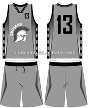 Stan Caleb Professional custom cheap Full Sublimation reversible basketball jersey/basketball uniform design