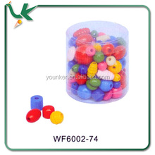 Mixed Shape And Size Colourful Bulk Wooden Beads