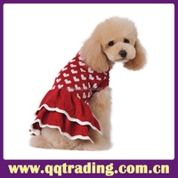 Pink dress lovely dog clothes dot custom new fashion wholesale dog clothes