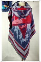 Fashion Trend Ladies Wear Acrylic Printed Square Scarf Shawl With Good Quality And Resonable Price