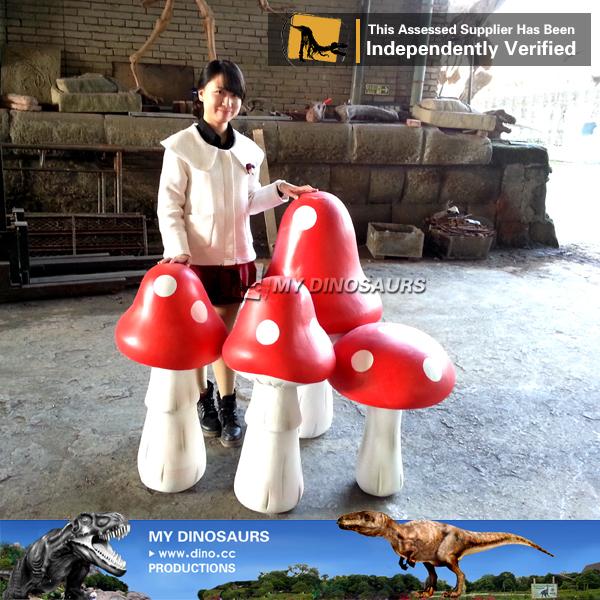 My Dino F034 Fiberglass Decorative Mushrooms For Garden   Buy ...