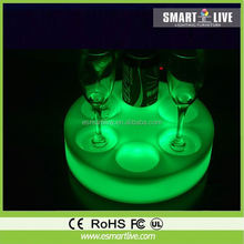 High quality crystal column/crystal pillar oliday led pillar candles in glass, india glass tray