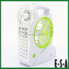 2015 New arrival Handle Rechargeable Fan with 30+1LED Lamp,camping fan,Multi-function charging fan with light and handle G21A108