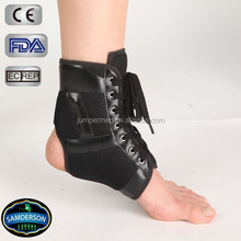 Leather lace-up extended ankle brace for sports and general use