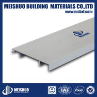 China baseboard factory waterproof aluminum how to fit skirting boards