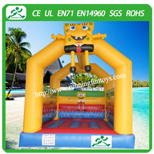 Inflatable lovely bouncer, mini cartoon bounce house inflatable