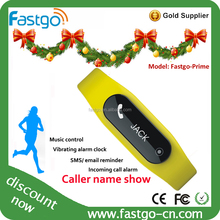 2015 TPU materials yellow wristbands sports wearables sleep and step tracker bracelet