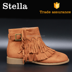 strappy rubber sole pointed toe western boots