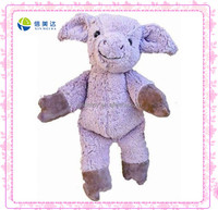 Walking purple pig farm animal plush toy