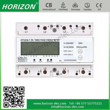 DTS238-7 ZN 7 Module three phase din rail three phase analog energy meter 7P