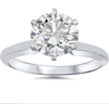 14K White Gold Diamond Solitaire Engagement Ring With Large Diamond