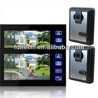 7''inch touch key interphone video with night vision camera