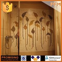 polished surface flooring goldline glass mosaic for kitchen backsplash