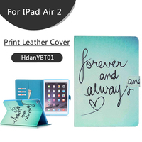 3D Printing Leather Case for IPad Air 2 Leather Flip Case,For Ipad Air 2 Accessories