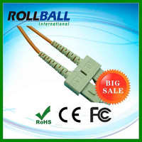 High quality SM duplex g652 fiber patch cord cable