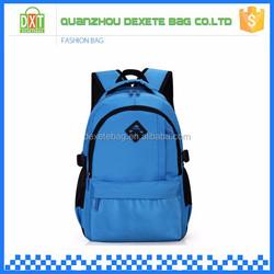 2015 Hot sell teenage girls polyester chinese student blue custom school bag