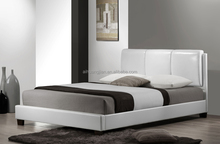 white faux leather sofa bed, cheap faux leather bed, faux leather bed wholesale 201