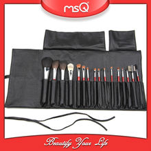 MSQ 16 pcs Nylon Hair Cosmetic Brush Set With PU Bag