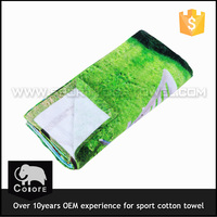 Double sides print cotton golf towel with hook and grommet