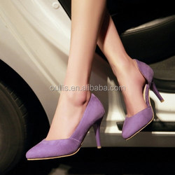 2015 ladies fashion footwear design women dress shoes made in suede CP6858
