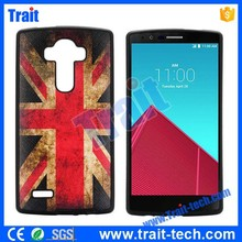 UK Flag Leather Coated TPU Case for LG G4 F500/ H810/ VS999 , No MOQ, Paypal accepted