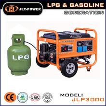 2KW small Liquid petrol gas portable LPG generator