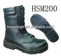 LX, 2013 newest waterproof leather comfortable hidden side copper zipper military boots