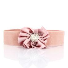 2015 New Women's Sweet All-Match Pearl Bow Belt Ladies Elastic Waistband Female Fashion Cummerbund Belt For Dress