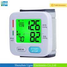 Nursing Home & Family Use Backlight Display Wrist Blood Pressure Meter/Monitor