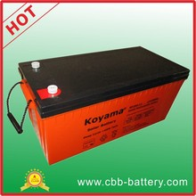CE certified 200ah 12V AGM ups storage battery deep cycle inverter battery