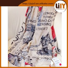 Fashion Women Long Print Cotton Scarf Wrap Ladies Shawl Girls Large Silk Scarves S2325