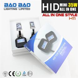 Bright headlamp HID XENON KIT, hid h1 short bulb, MINI ALL IN ONE 35w ac slim car hid xenon kit H4 6000k MINI ALL IN ONE H4 AC