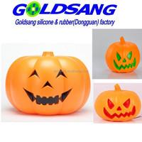 Novelty Halloween party gifts,LED light silicone pumpkin lantern,Halloween LED pumpkin toys
