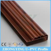Woodgrain color design plastic door frame covering