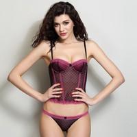 SECRET TREASURES L Large Panties Thong Sheer Tank Top Lace Lingerie Pink White Q09