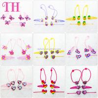 hair accessories kit custom glitter resin heart shape colorful hair bands bobby pins metal fish hair clip