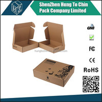 China Factory Free Design custom logo printed shipping box for direct mail pack